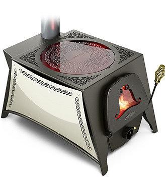 Дровяная отопительно-варочная печь в восточном стиле